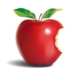 یك سیب گاز زده