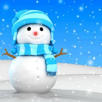 آدم برفی می سازم