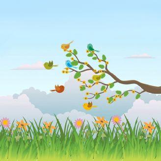 پرنده و بهار